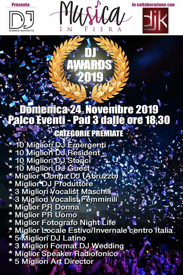 Premiazione DJ DJK Giorgio Santovito | Musica In Fiera | musicainfiera.it