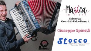 Giuseppe Spinelli e Fisarmoniche Stocco a Musica In Fiera